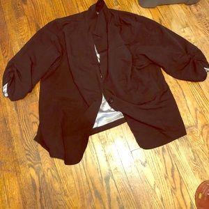 Torrid black blazer size 5